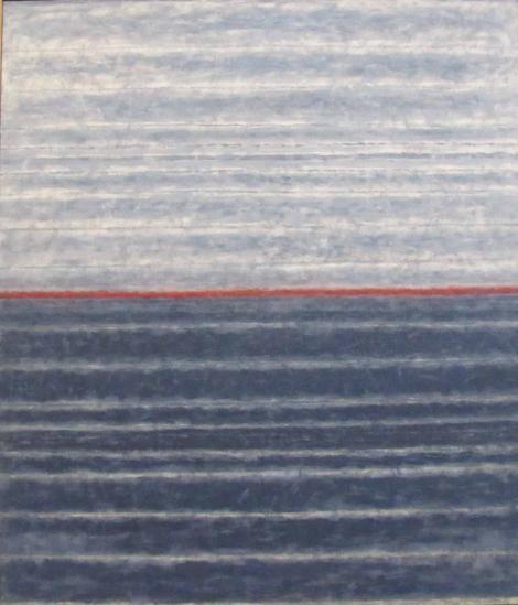 Červený horizont, 2007, 110x95 cm, akryl, platno