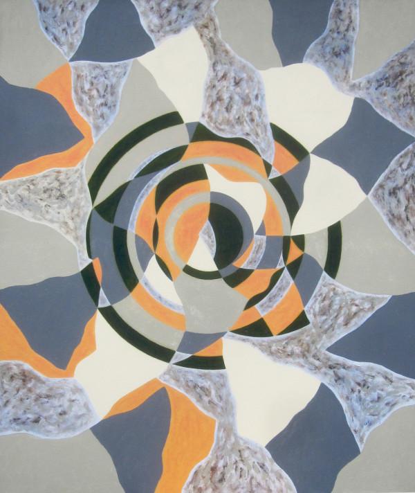 Kruhy ženy, 2014 (4), 125 x 105 cm, akryl, plátno